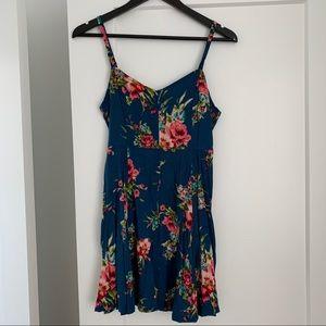 Forever 21 Blue Floral Mini Dress.